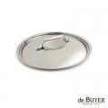 de Buyer, Lid, round, for induction, solid stainless steel handle, Ø 16 cm