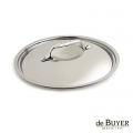 de Buyer, Lid, round, for induction, solid stainless steel handle, Ø 20 cm