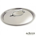 de Buyer, Lid, round, for induction, solid stainless steel handle, Ø 28 cm