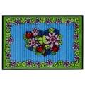 Doormat Flower Heart, anti slip back, easy-care, machine washable at 40° C, l 75 x w 50 cm