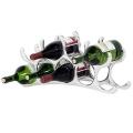 Eichholtz Weinregal für 9 Flaschen, Aluminium massiv, poliert, B 56 x H 24 x T 11 cm