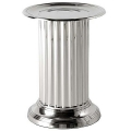 Eichholtz Column Table, round, metal, shiny nickeled, h 45 x Ø 33 cm