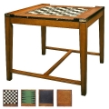 Spieltisch Casino Royale, Antikdesign, Edelholz, Braun, Messingbeschläge, 2 zweiseitige Spielbretter, L 82,5 x B 82,5 x H 76 cm