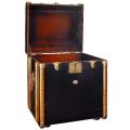 Koffer-Tisch Pullmann, klein, Antiklook, Farbe Schwarz/Kirschbaum, Maße: B 53 x H 56 x T 45 cm