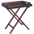 Eichholtz Butler Table, cherry wood finish, tray removeable, foldable, l 77 x w 60 x h 87 cm