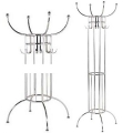 Eichholtz Wardrobe/Coat Hanger Dauphine, metal nickel finish, h 186 x Ø 60 cm