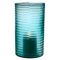 Eichholtz Design-Windlight Hurricane Ocean L, glass, blue with irregular concave cut, h 35 x Ø 20 cm