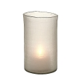 Eichholtz Design-Windlight Hurricane Octave S, frosted glass with cross cut, h 26 x Ø 16 cm
