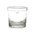 DutZ®-Collection Vase Conic, mit gefaltetem Rand, H 25 x Ø 22 cm, Klar