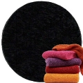 Abyss & Habidecor Super Pile Terry Cloth Guest Towel, 30 x 50 cm, 100% Egyptian Giza 70 Cotton, 700g/m², 990 Black