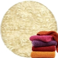 Abyss & Habidecor Super Pile Terry Cloth Sauna/Beach Towel, 105 x 180 cm, 100% Egyptian Giza 70 Cotton, 700g/m², 101 Ecru