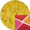Abyss & Habidecor Badematte Must, 50 x 80 cm, 100% ägyptische Baumwolle, gekämmt, 850 Safran
