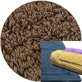 Abyss & Habidecor Bath Mat Reversible, 50 x 80 cm, 100% Egyptian Combed Cotton, 778 Tobacco