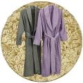 Abyss & Habidecor Amigo Bademantel, 100% ägyptische Giza 70 Baumwolle, 400 g/m², Größe XL, 770 Linen