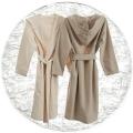 Abyss & Habidecor Capuz Spa Bath Robe, 100% Egyptian Giza 70 cotton, 350 g/m², Size L, 100 White