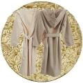 Abyss & Habidecor Capuz Spa Bademantel, 100% ägyptische Giza 70 Baumwolle, 350 g/m², Größe M, 770 Linen