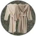 Abyss & Habidecor Capuz Spa Bath Robe, 100% Egyptian Giza 70 cotton, 350 g/m², Size L, 920 Gris