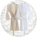 Abyss & Habidecor Pousada Bath Robe, 100% Egyptian Giza 70 cotton, 300 g/m², Size L, 100 White