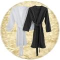 Abyss & Habidecor Spa Bademantel, 100% ägyptische Giza 70 Baumwolle, 350 g/m², Größe S, 101 Ecru