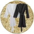 Abyss & Habidecor Spa Bademantel, 100% ägyptische Giza 70 Baumwolle, 350 g/m², Größe L, 770 Linen