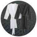 Abyss & Habidecor Spa Bath Robe, 100% Egyptian Giza 70 cotton, 350 g/m², Size L, 920 Gris