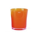 Collection DutZ® vase Conic, h 23 x Ø 20 cm, rouge orange