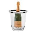 Edzard Champagne-Cooler/Wine-Cooler Toby, crystal glass Platinum coated, h 23 x Ø 18 cm