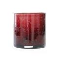 Henry Dean Vase/Windlicht Cylinder, H 15 x Ø 15 cm, Garnet