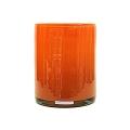 Henry Dean Vase/Windlicht Cylinder, H 17 x Ø 13 cm, Mandarin