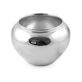 Edzard Vase/Cachepot Madeira, shiny QualiPlated® with silver, h 17 x Ø 25 cm