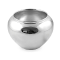 Edzard Vase/Cachepot Madeira, shiny QualiPlated® with silver, h 18 x Ø 30 cm