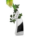 Edzard Vase Indiana, polished stainless steel h 24 cm