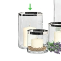 Edzard Vase/Windlicht Molly, Kristallglas platinveredelt, H 25 x Ø 18 cm