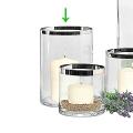 Edzard Vase/Windlight Molly, crystal glass Platinum coated, h 25 x Ø 18 cm