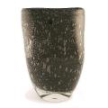 Henry Dean Flower Vase Sablon oval, h 32 x w 25 cm, wlack