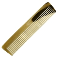 Genuine horn comb, fine toothed, straight, hand cut and hand polished, l 17,5 cm