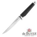 de Buyer Filleting Knife, Design FK2,stainless steel X50CrMoV15/Carbon, l blade/total 16/30 cm