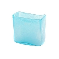 Collection DutZ® vase/récipient rectangulaire, h 13 x L 13 x l 7 cm, aqua