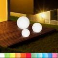 8-Seasons-Design-Leuchtobjekt, Kugel, Weiß, Ø 40 cm, Indoor/Outdoor, LED-Farbw./Fernbed., CE IP44, Netzstecker, 5 m Kabel