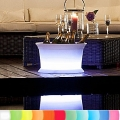 8-Seasons-Design-Light-Object, Cooler, white, Ø 50 x h 29 cm, Indoor/Outdoor, LED-color change/remote ctrl, CE IP48, with rechargeable battery