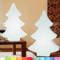 8-Seasons-Design-Leuchtobjekt, Weihnachtsbaum, Weiß, H 113 x B 79 x T 20 cm, Indoor/Outdoor, LED-Farbw./Fernbed., CE IP44, Netzstecker, 5 m Kabel