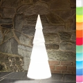 8-Seasons-Design-Light-Object, X-Mas Tree round, white, Ø 21 x H 55 cm, Indoor/Outdoor, LED-color change/remote ctrl, CE IP44, power plug, 5 m cable