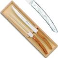 Thiers Tranchierbesteck/Vorlegebesteck in Box, L 32 cm, Weiß marmoriert