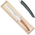 Coffret couteau à pain Thiers, dentelé, L 31,5 cm, gris foncé marbré