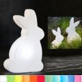 8-Seasons-Design-Light-Object, Rabbit, white, h 50 x w 29 x d 10 cm, Indoor/Outdoor, LED-color change/remote ctrl, CE IP44, power plug, 5 m cable