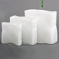 DutZ®-Collection Vase rechteckig, L 30 x H 30 x T 12 cm, Weiß