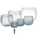 DutZ®-Collection Vase Pot Mini, h 7 x Ø 10 cm, clear with bubbles
