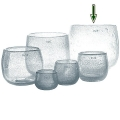 Collection DutZ® vase/récipient Pot, h 26 x Ø 30 cm, transparent avec cloques