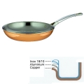 Ruffoni Symphonia Cupra Frying Pan, hammered polished copper/stainless steel, Ø 26 x h 5 cm, 3.0 l