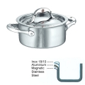 Ruffoni Symphonia Prima Induction Casserole small with lid, hammered polished stainless steel Ø 16 x h 8 cm, 1.5 l